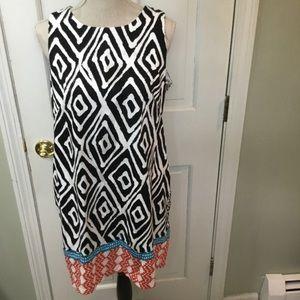 Muggy London sheath dress with material blocking